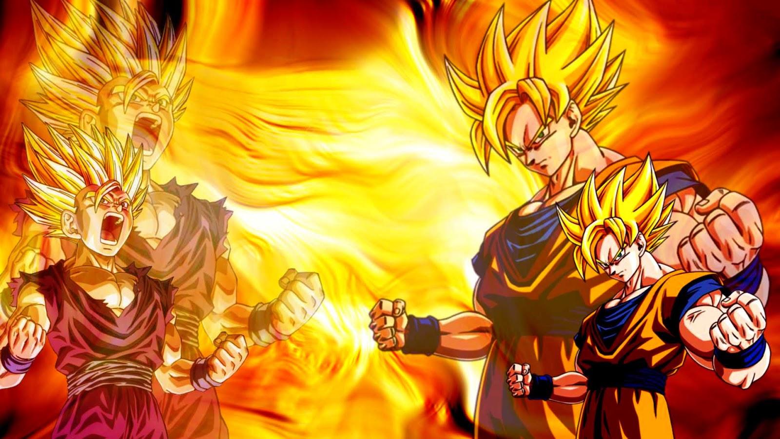 Goku And Gohan Super Saiyan Wallpaper