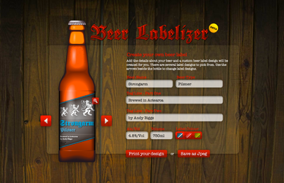 Nice online beer label generator | How About Orange
