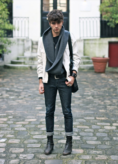 Dries Van Noten Jacket - COS Snood - Lee Jeans - BLOG MODE HOMME - MENSFASHION