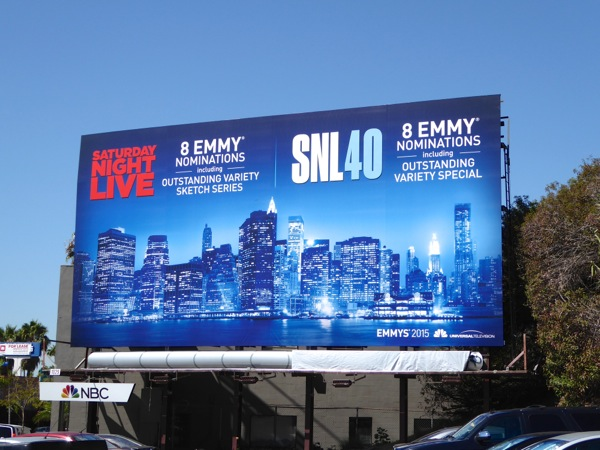 Saturday Night Live 2015 Emmy nomination billboard