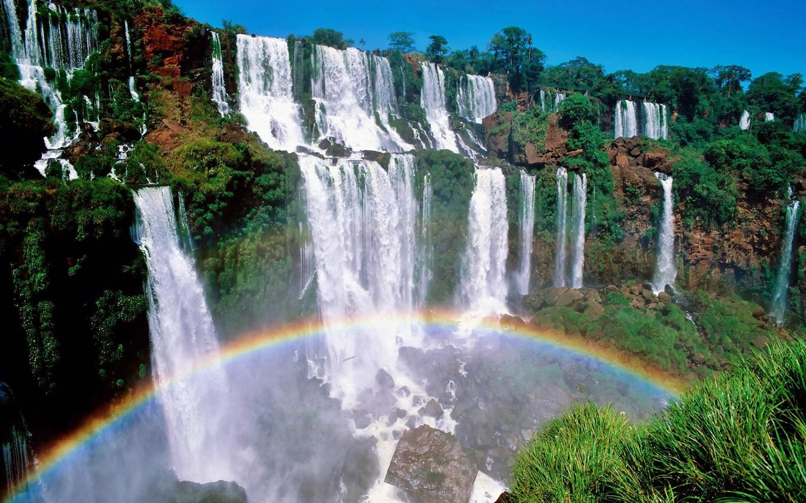 Beautiful Scenic Waterfall HD Wallpaper