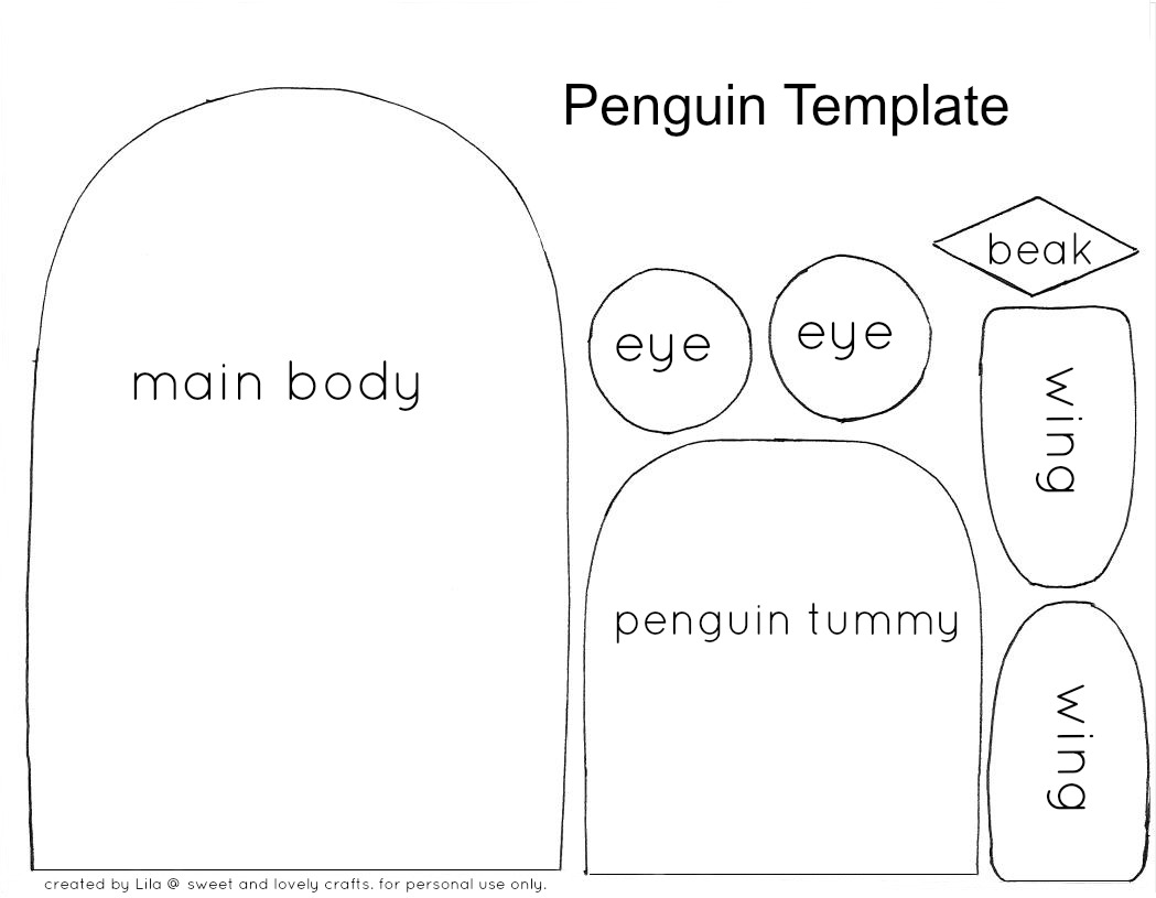 Fan image regarding penguin template printable