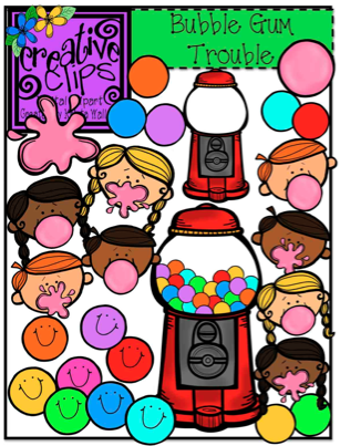 http://www.teacherspayteachers.com/Product/Bubble-Gum-Trouble-Creative-Clips-Digital-Clipart-603183