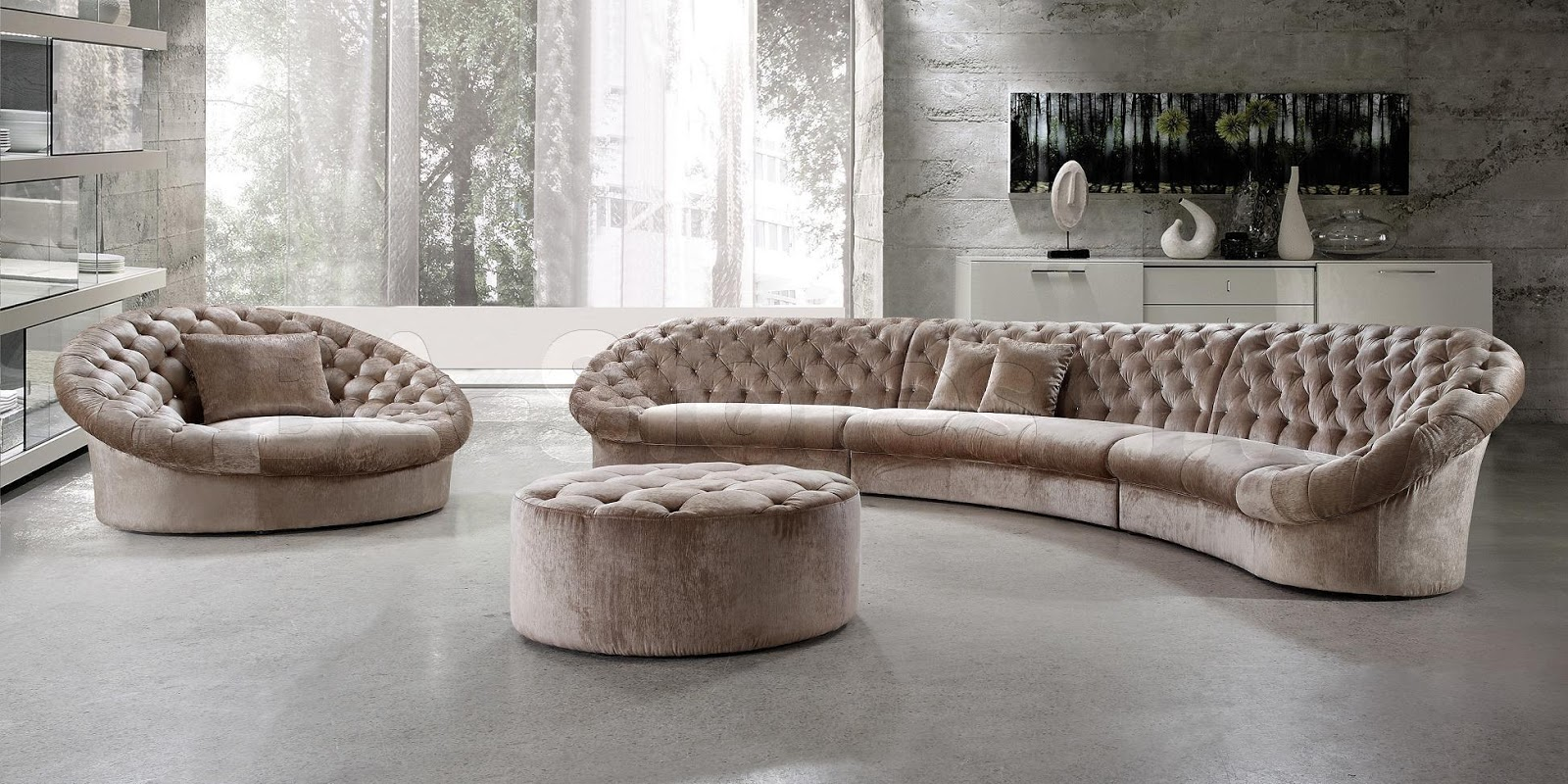 Modern furniture modern sofa beautiful designs Circular couches living room furniture