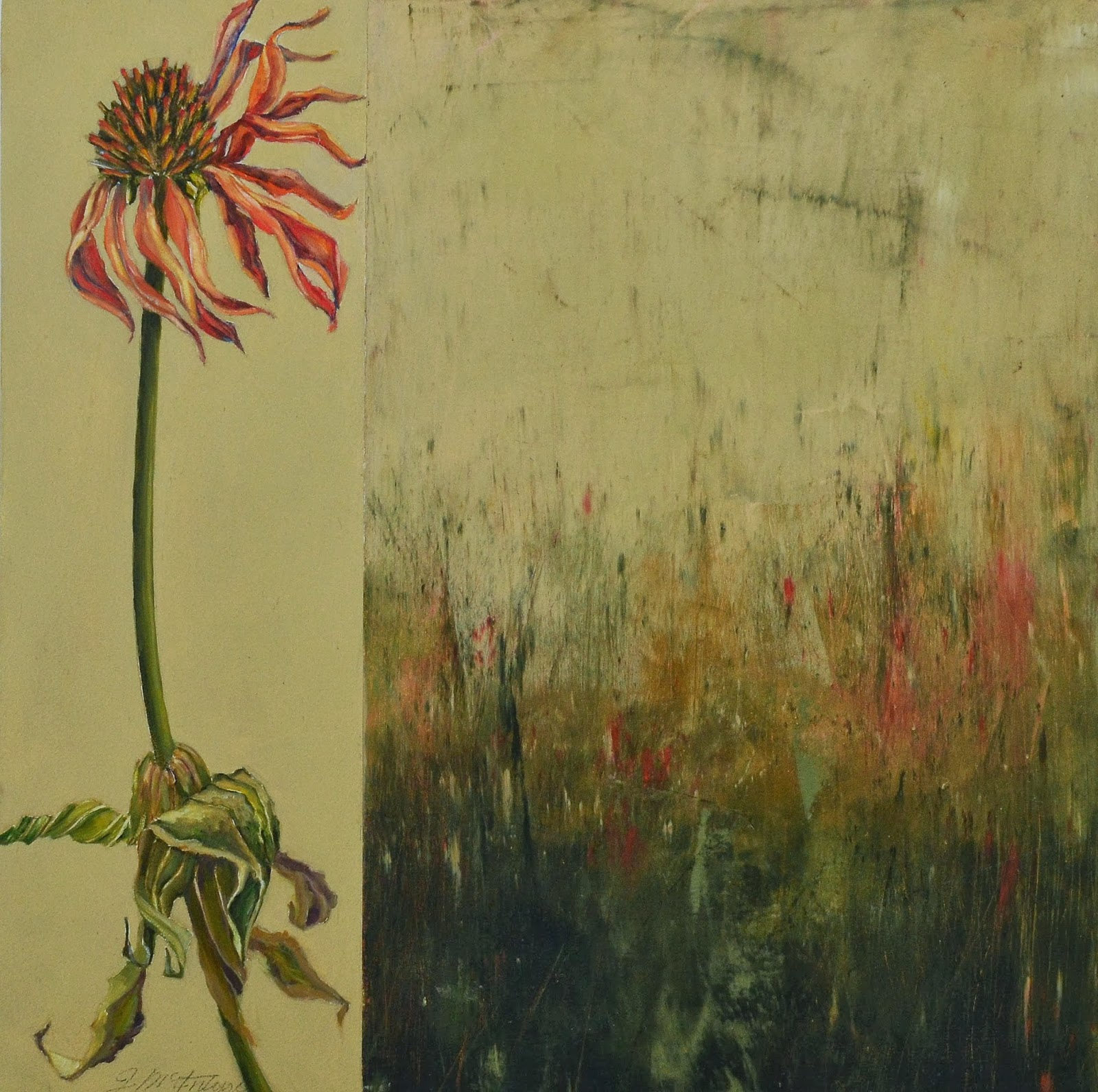 Art from my easel by jacqueline mcintyre cold wax for Wax landscape