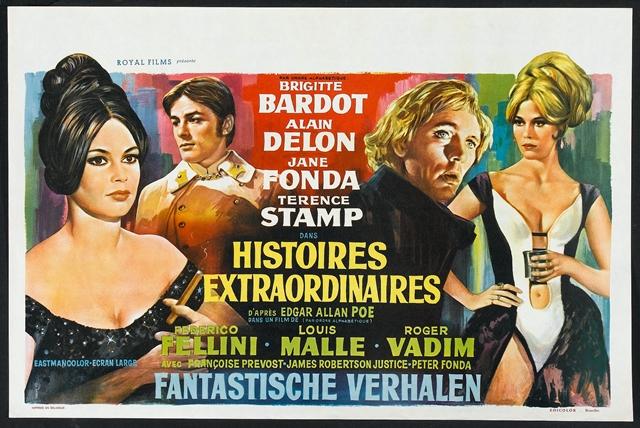 Historias extraordinarias, Roger Vadim, Louis Malle, Federico Fellini, Histoires extraordinaires