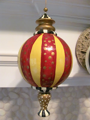 hand painted stripe ornament