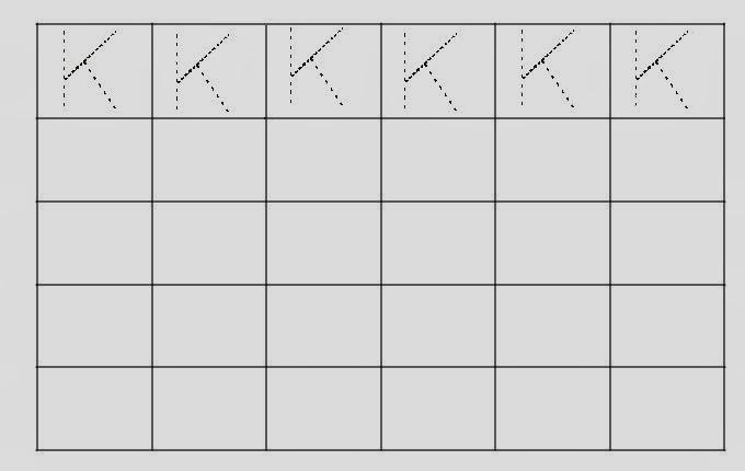 Alfabeto Pontilhado Letra K
