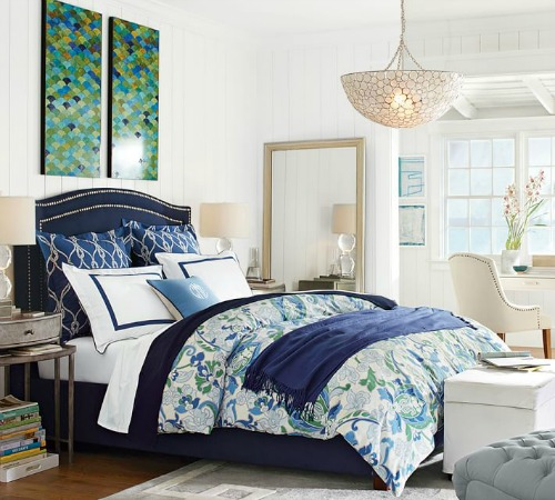 Navy Blue Bed
