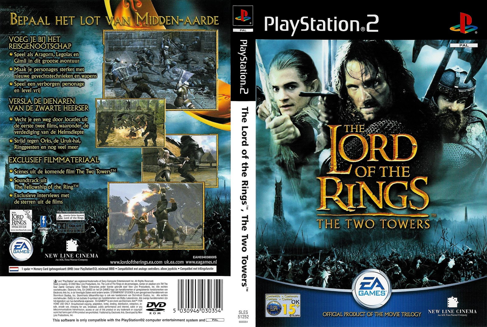 Download Game Ps2 The Lord Of The Rings ( Two Tower ) ISO Psx Free ...