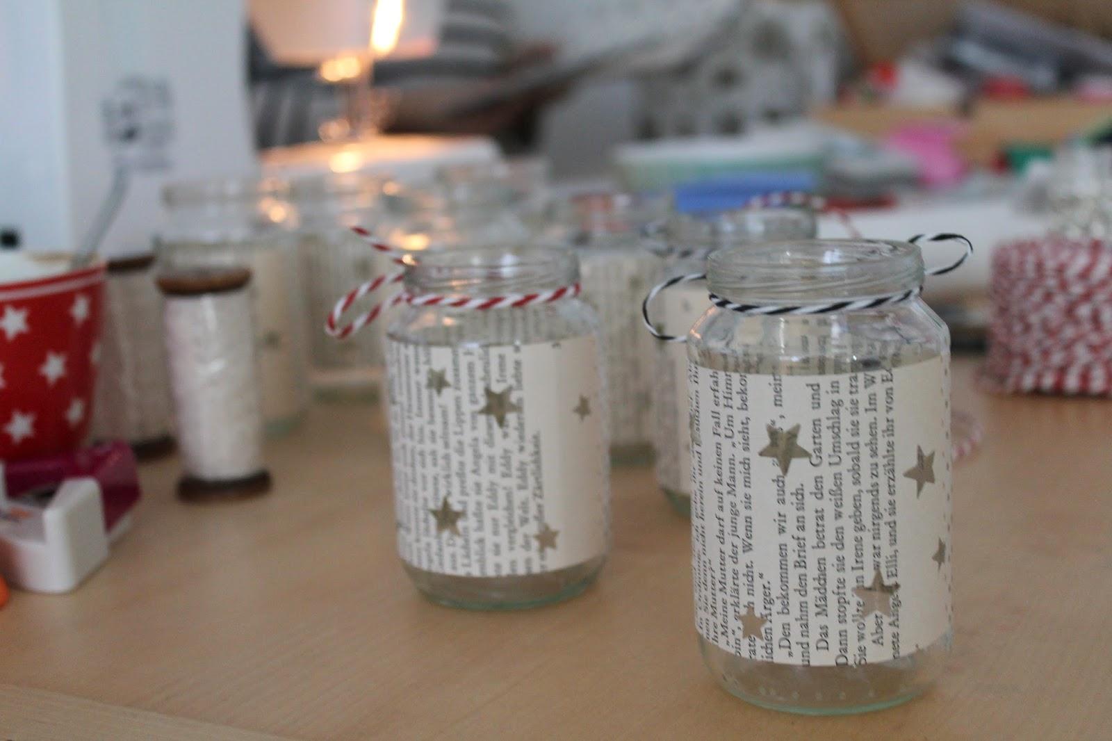 DIY Adventslichter mit Sternen