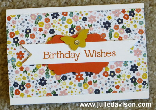 Stampin' Up! Card Kit: Flower Pot DSP + Four You stamp set -- free gift for Paper Pumpkin Subscribers #stampinup www.juliedavison.com