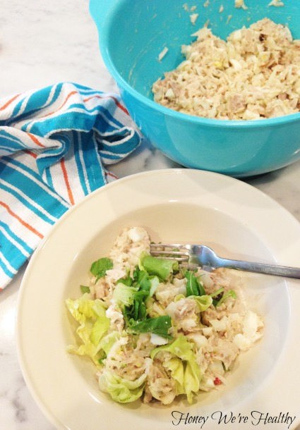 how to make tuna salad with eggs and relish