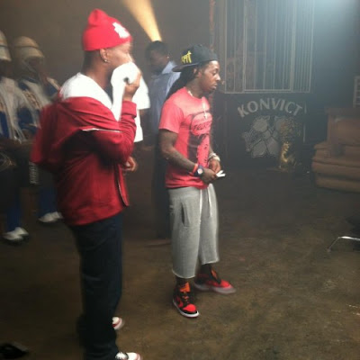 juici j lil wayne y 2 chainz grabando el video de bandz a make her dance