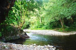 ribera del río Ibias