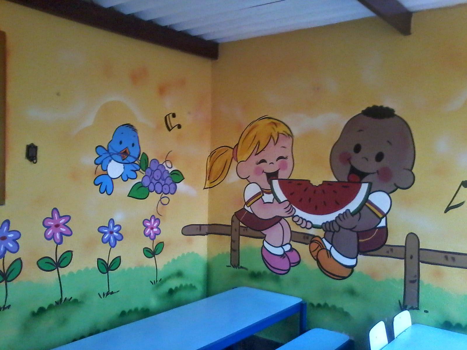 Will arte graffiti cliente amigo de 20 anos escola de - Pintura infantil pared ...