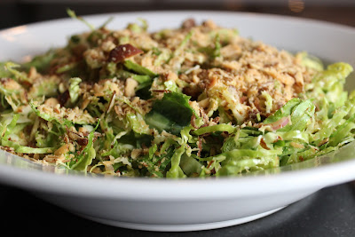 Brussel Sprout Salad with Smoked Almonds