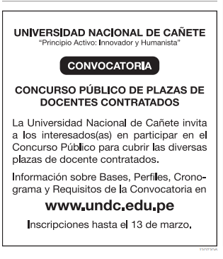 Ca ete tv canal 31 convocatoria p blica plaza de docentes for Convocatoria plazas docentes