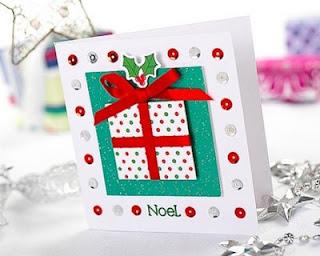 Tarjeta con diseño de paquete regalo