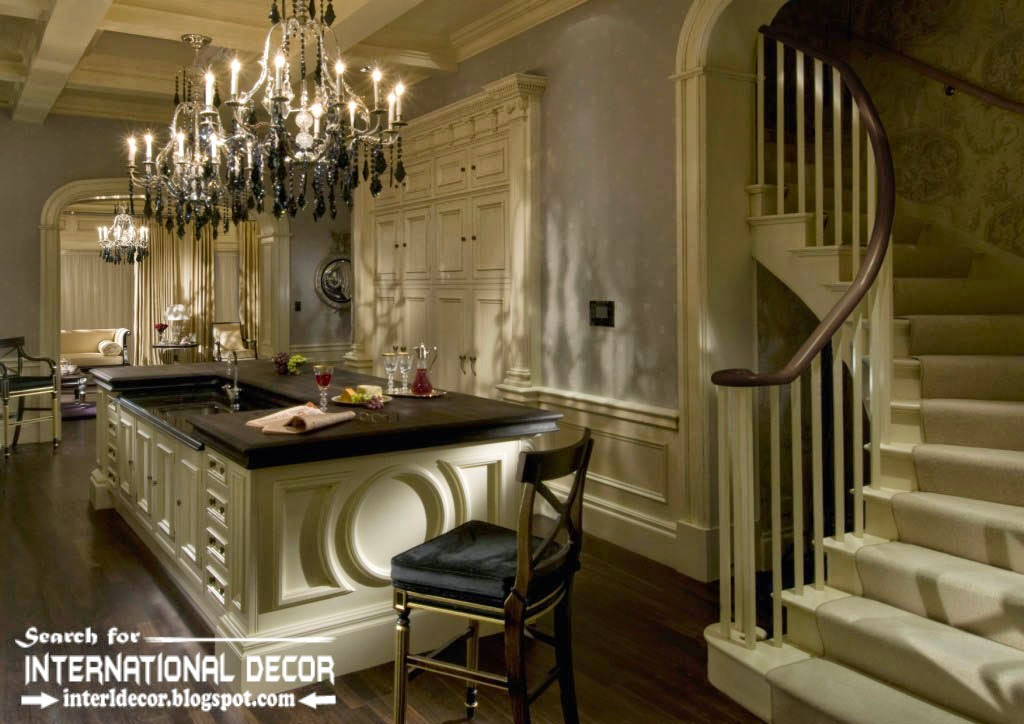 classic English style in the interior, English interiors with stairs