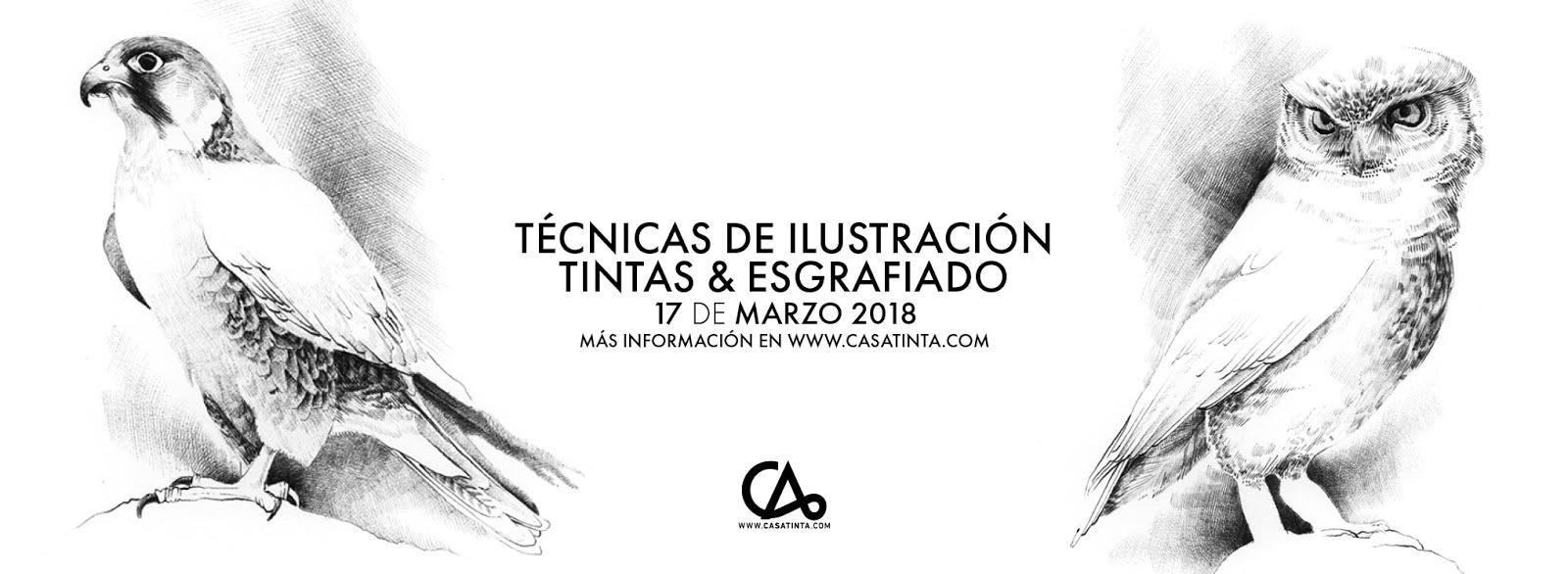 TECNICAS DE ILUSTRACIÓN: tintas y esgrafiado // 17 de marzo