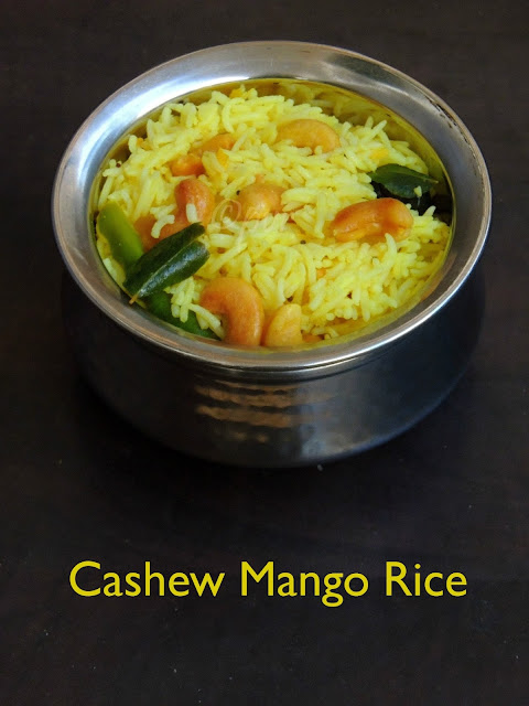 Cashew rice with grated mango