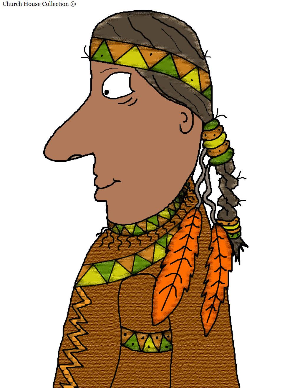 thanksgiving indian clip art - photo #1