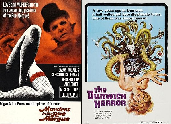 Murders in the Rue Morgue and The Dunwich Horror posters