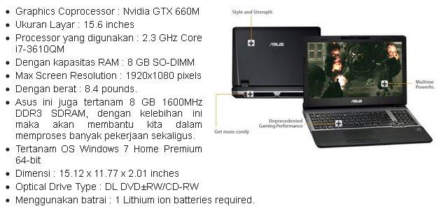 dari Hardisk Laptop ASUS G55VW-ES71 ini adalah memiliki kapasitas ...