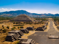 Mexico Teotihuacan pyramid of the sun