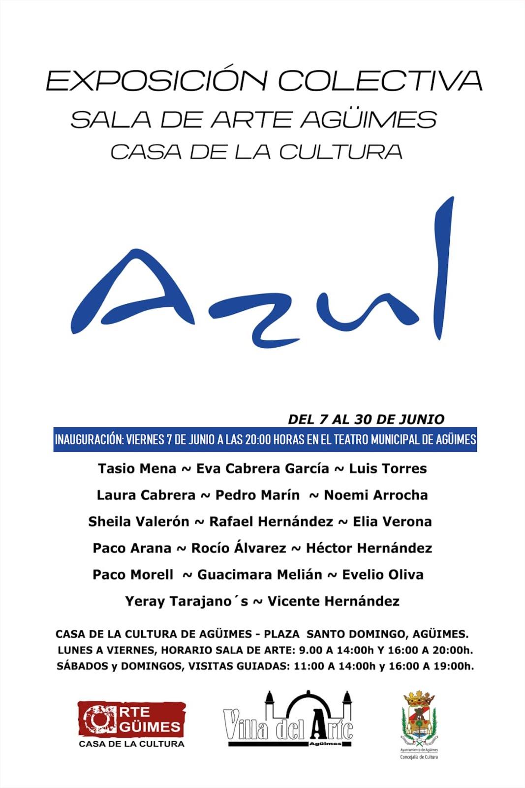 Exposición Colectiva Azul en la Sala de Arte Agüimes