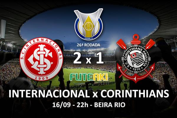 Veja o resumo da partida com os gols e os melhores momentos de Internacional 2x1 Corinthians pela 26ª rodada do Brasileirão 2015.