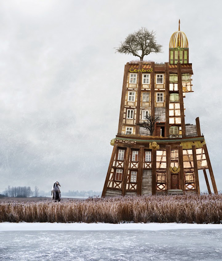 surreal houses collages matthias jung-3