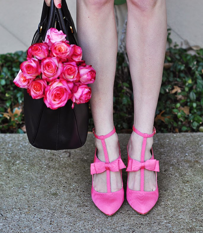 Nine West bow pink heels