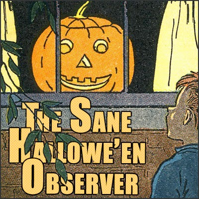 Panel from page 24 of Before We Read printed in Canada - boy stares into window at Jack O'Lantern