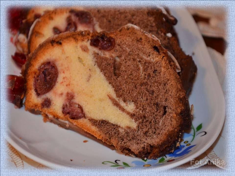 Domowa kuchnia Aniki Babka marmurkowa z wiśniam -> Kuchnia Szeroko Otwarta Babka Marmurkowa