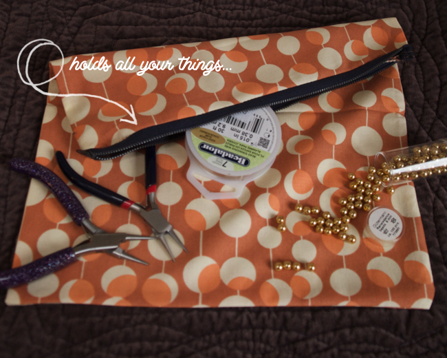 How to sew a simple fold over bag via Randomly Happy
