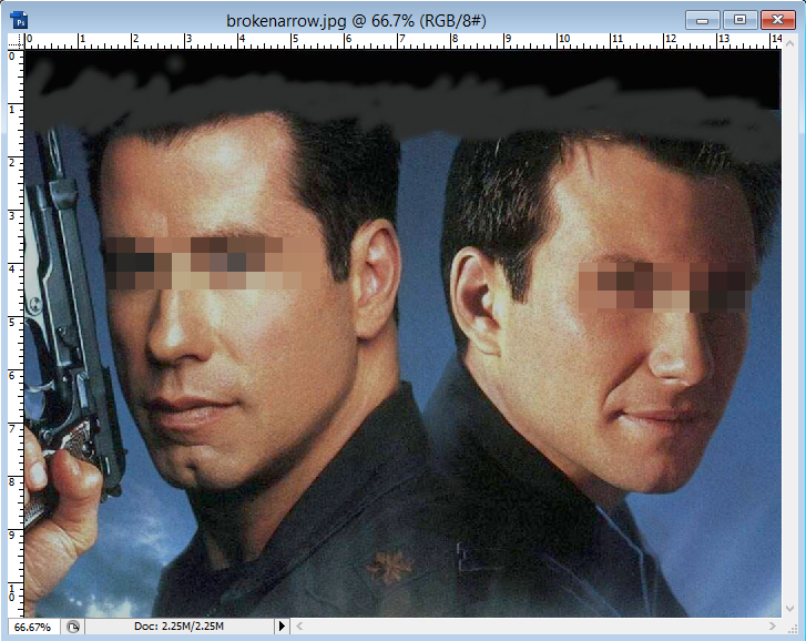 cara belajar how to create tutorial photoshop sensor film 2