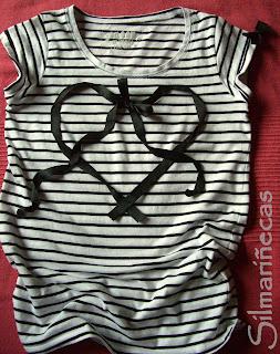 cómo poner un corazón de lazo en una camiseta-