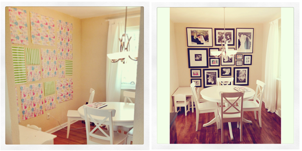 Black and White Gallery Wall up in Kitchen! - At Home With Natalie