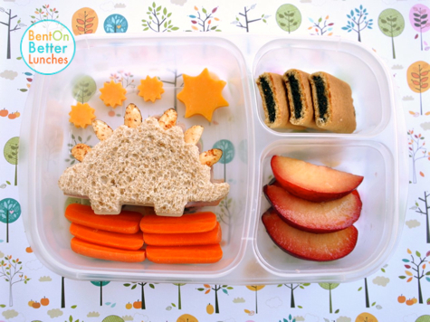 Stegosaurus Dinosaur Bento Lunch by Bent On @BetterLunches