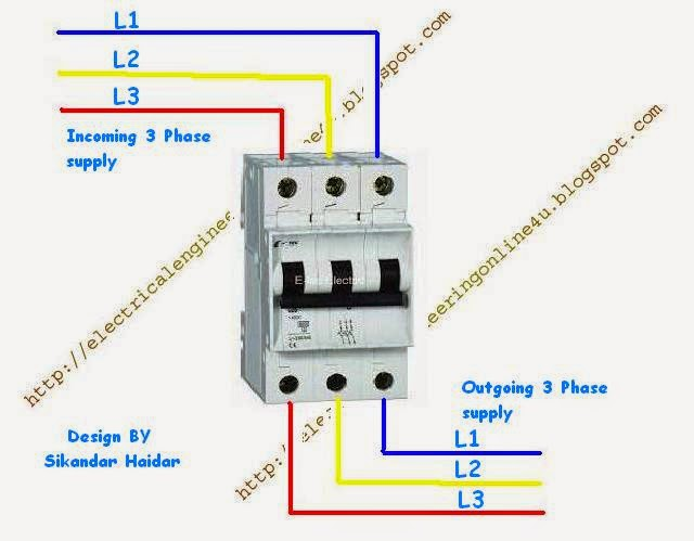 3 Phase Circuit Breaker Wiring Diagram: How to Wire 3 Pole Circuit Breaker,