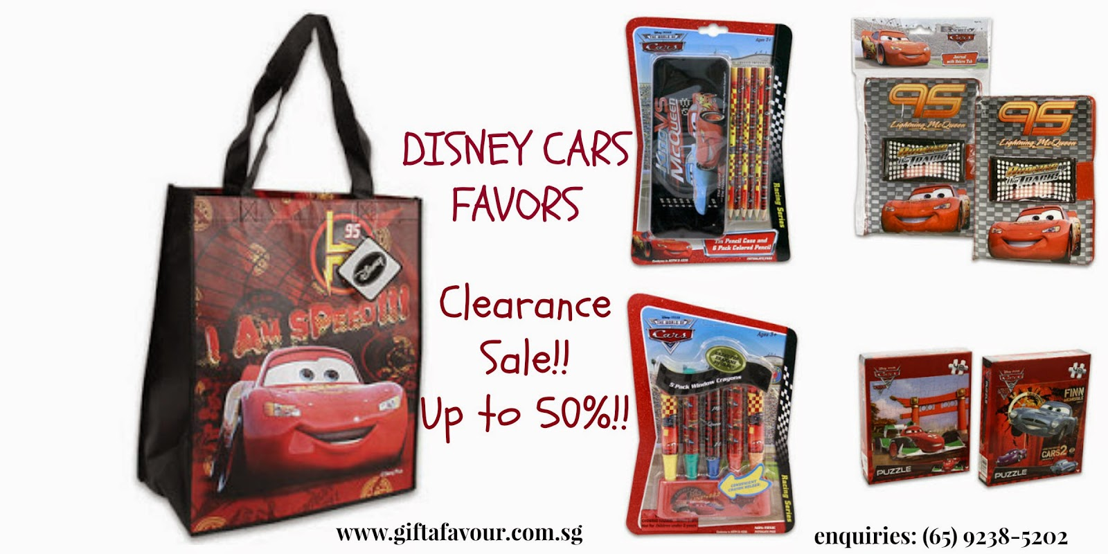 Disney Cars Tote Bag Journal Crayons Tin Bucket And Puzzle