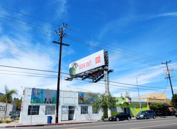 Geek Out parrot NHM billboard