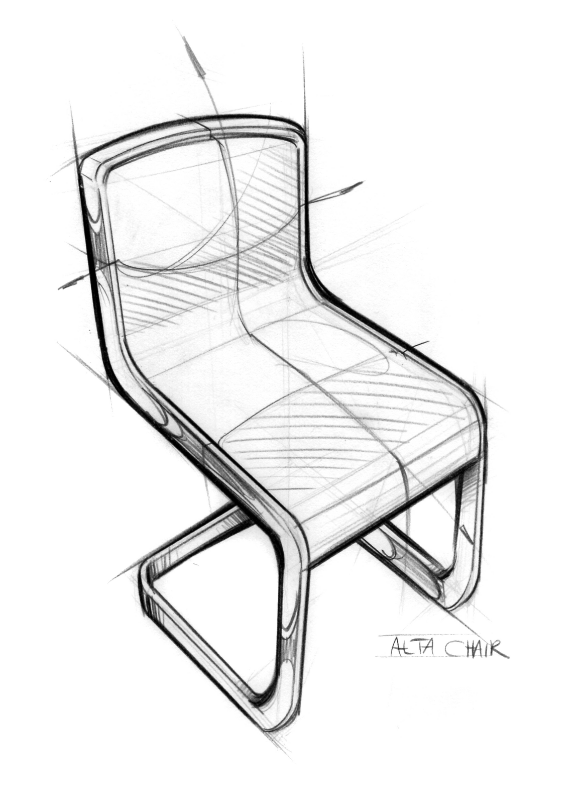 Notes from the atelier alta chair sketch for Furniture sketch design