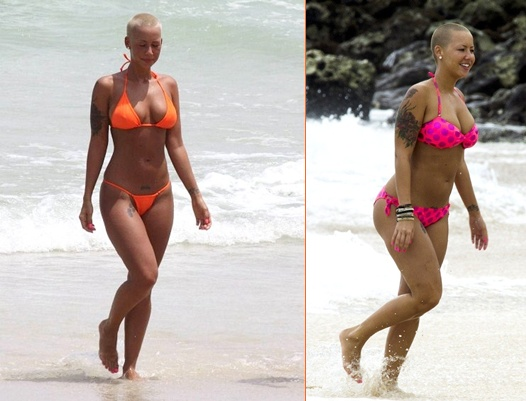 amber rose beach photos. house Amber Rose spends the