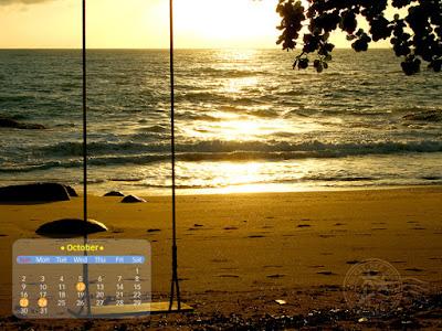 ปฏิทิน desktop (วอลล์เปเปอร์) เดือนตุลาคม 2554