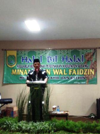 Bupati Subang Halal Bihalal Bersama Staf dan Pegawai Dinas Peternakan