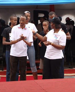 Ivan kagame with his family
