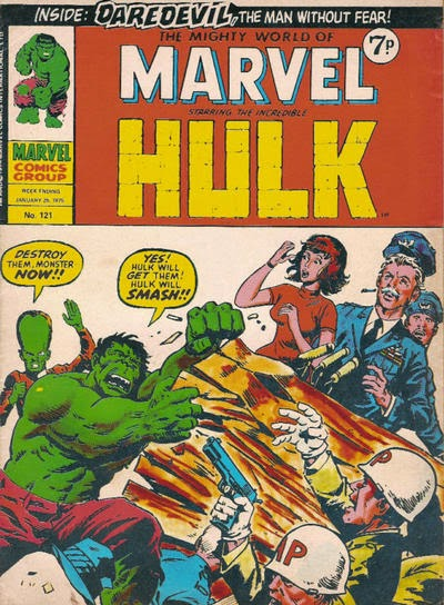 Mighty World of Marvel #121, Hulk vs Leader